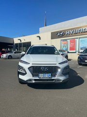 2019 Hyundai Kona OS.3 MY20 Elite D-CT AWD Chalk White 7 Speed Sports Automatic Dual Clutch Wagon.