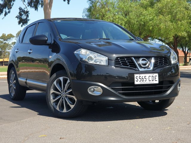 Used Nissan Dualis J10 MY2009 Ti Hatch, 2010 Nissan Dualis J10 MY2009 Ti Hatch Black 6 Speed Manual Hatchback