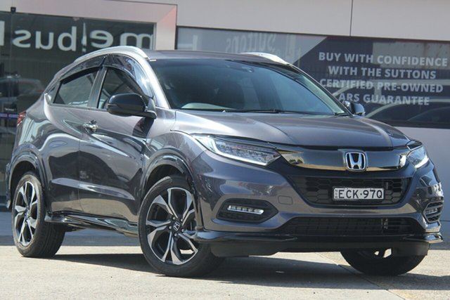 Used Honda HR-V MY19 RS, 2019 Honda HR-V MY19 RS Modern Steel Continuous Variable Wagon