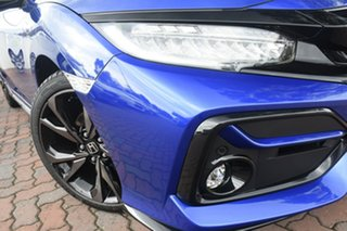 2020 Honda Civic 10th Gen MY20 RS Brilliant Sporty Blue 1 Speed Constant Variable Hatchback.