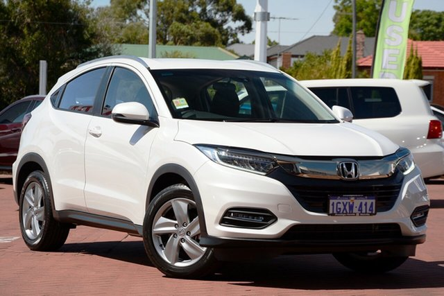 Demo Honda HR-V MY20 VTi-S, 2019 Honda HR-V MY20 VTi-S Taffeta White 1 Speed Constant Variable Hatchback
