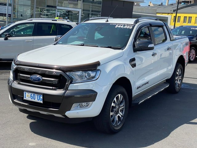 Used Ford Ranger PX MkII Wildtrak Double Cab, 2015 Ford Ranger PX MkII Wildtrak Double Cab White 6 Speed Sports Automatic Utility