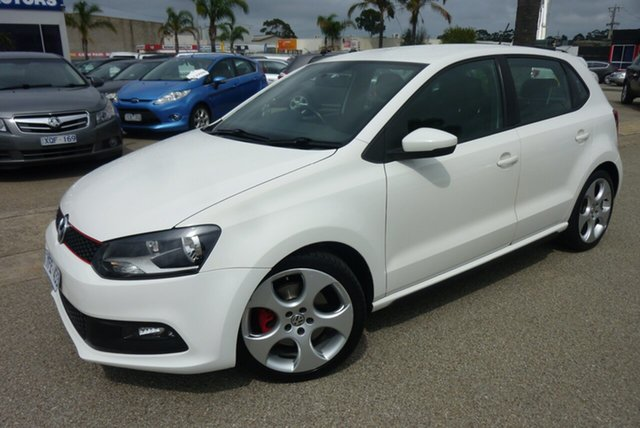 Used Volkswagen Polo 6R MY11 GTI DSG, 2010 Volkswagen Polo 6R MY11 GTI DSG White 7 Speed Sports Automatic Dual Clutch Hatchback
