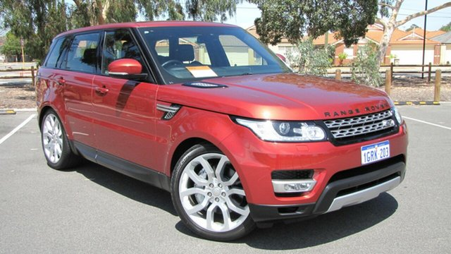 Used Land Rover Range Rover Sport L494 MY14.5 SDV6 HSE, 2014 Land Rover Range Rover Sport L494 MY14.5 SDV6 HSE Red 8 Speed Sports Automatic Wagon