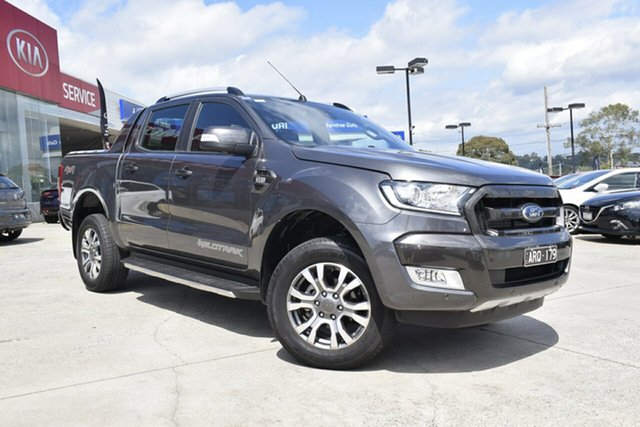 Used Ford Ranger PX MkII Wildtrak Double Cab, 2017 Ford Ranger PX MkII Wildtrak Double Cab Grey 6 Speed Sports Automatic Utility