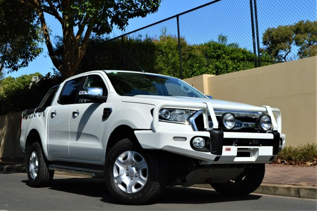 Used Ford Ranger PX MkII XLT Double Cab, 2015 Ford Ranger PX MkII XLT Double Cab White 6 Speed Sports Automatic Utility