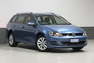 2014 Volkswagen Golf AU MY15 90 TSI Comfortline Blue 7 Speed Auto Direct Shift Wagon.