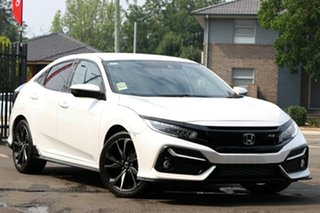 2021 Honda Civic 10th Gen MY20 RS Platinum White 1 Speed Constant Variable Hatchback.