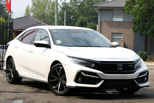 New Honda Civic 10th Gen MY20 RS, 2020 Honda Civic 10th Gen MY20 RS Platinum White 1 Speed Constant Variable Sedan