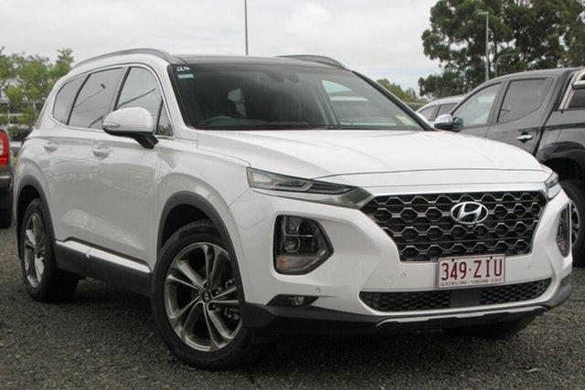 Used Hyundai Santa Fe TM MY19 Highlander, 2018 Hyundai Santa Fe TM MY19 Highlander White 8 Speed Sports Automatic Wagon