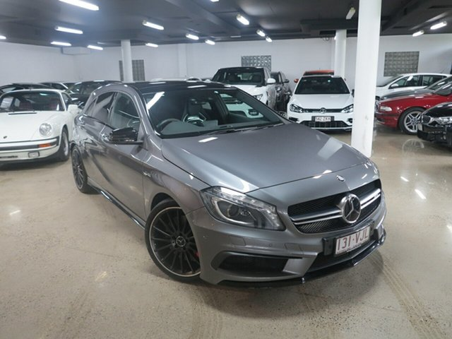 Used Mercedes-Benz A-Class W176 805+055MY A45 AMG SPEEDSHIFT DCT 4MATIC, 2015 Mercedes-Benz A-Class W176 805+055MY A45 AMG SPEEDSHIFT DCT 4MATIC Grey 7 Speed