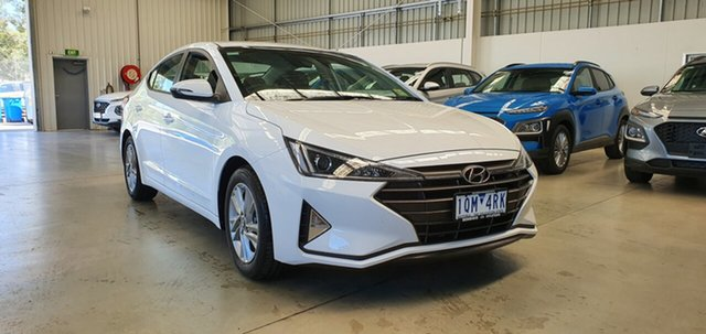 Demo Hyundai Elantra AD.2 MY19 Active, 2019 Hyundai Elantra AD.2 MY19 Active Polar White 6 Speed Sports Automatic Sedan