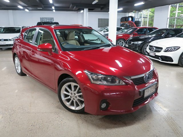 Used Lexus CT ZWA10R MY13 CT200h Sports Luxury, 2013 Lexus CT ZWA10R MY13 CT200h Sports Luxury Red 1 Speed Constant Variable Hatchback Hybrid