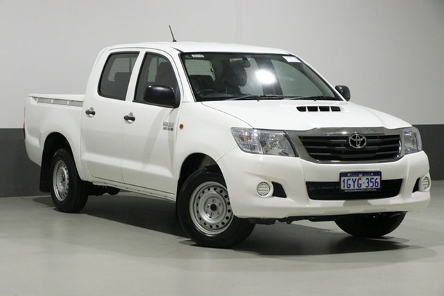 Used Toyota Hilux KUN16R MY14 SR, 2014 Toyota Hilux KUN16R MY14 SR White 5 Speed Manual Dual Cab Pick-up