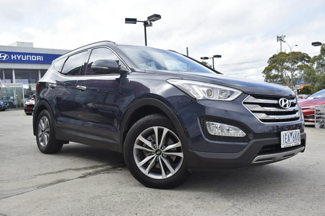 Used Hyundai Santa Fe DM2 MY15 Elite, 2014 Hyundai Santa Fe DM2 MY15 Elite Blue 6 Speed Sports Automatic Wagon