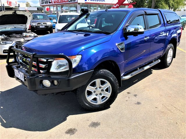 Used Ford Ranger PX XLT Double Cab, 2012 Ford Ranger PX XLT Double Cab Blue 6 Speed Manual Utility