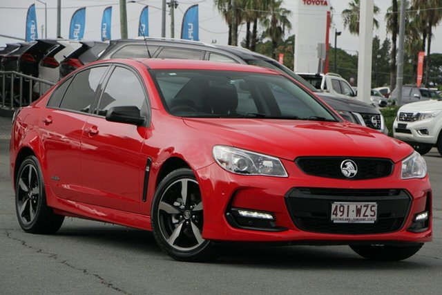 Used Holden Commodore VF II MY16 SV6 Black, 2016 Holden Commodore VF II MY16 SV6 Black Red 6 Speed Sports Automatic Sedan