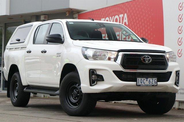 Used Toyota Hilux GUN136R SR Double Cab 4x2 Hi-Rider, 2019 Toyota Hilux GUN136R SR Double Cab 4x2 Hi-Rider Glacier White 6 Speed Sports Automatic Utility