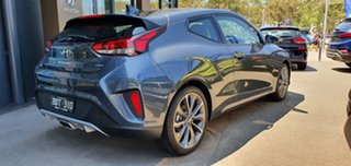 2019 Hyundai Veloster JS MY20 Coupe Dark Knight 6 Speed Automatic Hatchback.