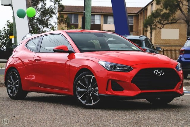 New Hyundai Veloster JS MY20 Coupe, 2019 Hyundai Veloster JS MY20 Coupe Ignite Flame 6 Speed Automatic Hatchback