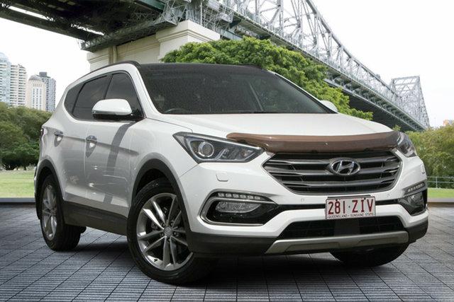 Used Hyundai Santa Fe DM3 MY16 Highlander, 2015 Hyundai Santa Fe DM3 MY16 Highlander White 6 Speed Sports Automatic Wagon