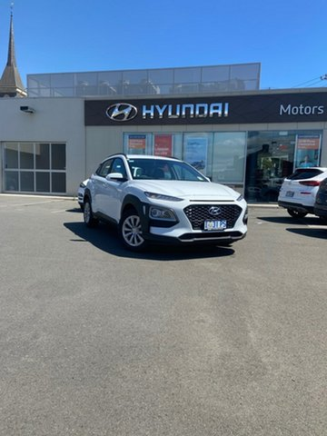 Demo Hyundai Kona OS.3 MY20 Go 2WD, 2019 Hyundai Kona OS.3 MY20 Go 2WD Chalk White 6 Speed Sports Automatic Wagon