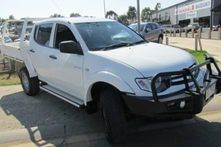 2013 Mitsubishi Triton MN MY14 GLX Double Cab White 5 Speed Manual Utility.
