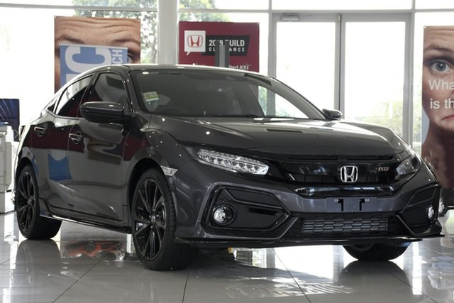 New Honda Civic 10th Gen MY20 RS, 2020 Honda Civic 10th Gen MY20 RS Modern Steel 1 Speed Constant Variable Hatchback