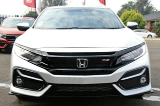 2021 Honda Civic 10th Gen MY20 RS Platinum White 1 Speed Constant Variable Hatchback