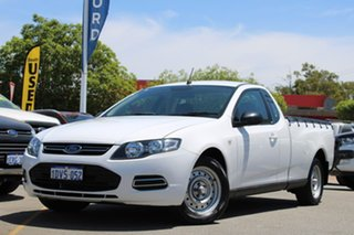 2012 Ford Falcon FG MkII Ute Super Cab White 6 Speed Sports Automatic Utility.
