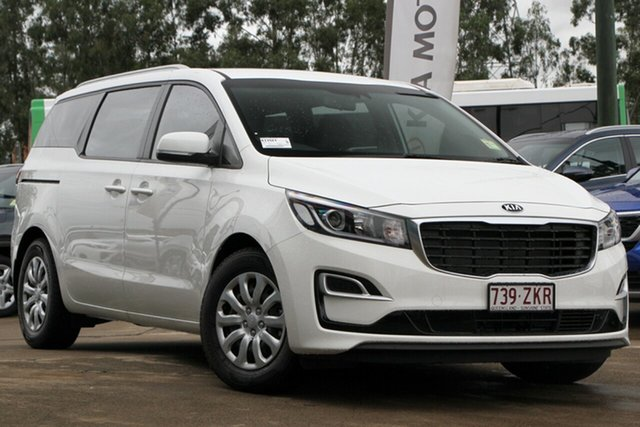 Used Kia Carnival YP MY19 S, 2019 Kia Carnival YP MY19 S Clear White 8 Speed Sports Automatic Wagon