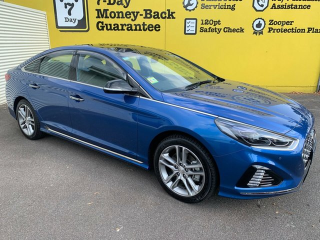 Used Hyundai Sonata LF4 MY18 Premium, 2018 Hyundai Sonata LF4 MY18 Premium Blue 8 Speed Sports Automatic Sedan