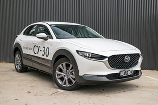 2019 Mazda CX-30 DM2W7A G20 SKYACTIV-Drive Evolve Snowflake White Pearl 6 Speed Sports Automatic.