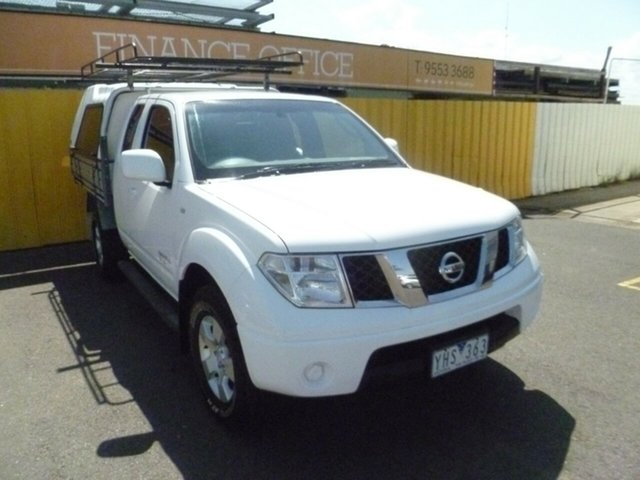 Used Nissan Navara D40 MY10 ST-X, 2010 Nissan Navara D40 MY10 ST-X White 6 Speed Manual Utility