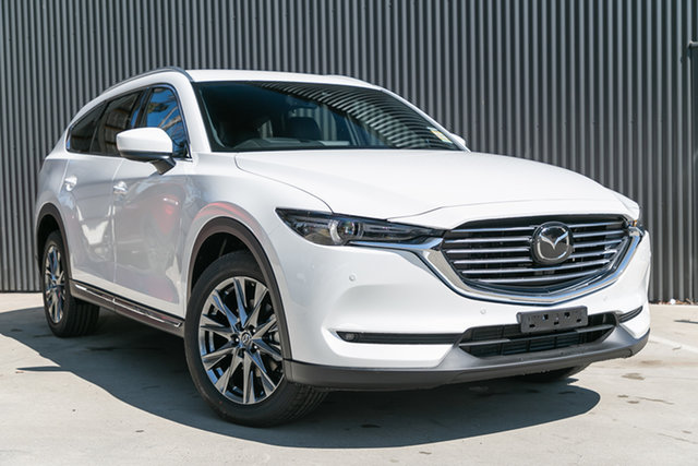 Demo Mazda CX-8 KG4W2A Asaki SKYACTIV-Drive i-ACTIV AWD, 2019 Mazda CX-8 KG4W2A Asaki SKYACTIV-Drive i-ACTIV AWD Snowflake White Pearl 6 Speed