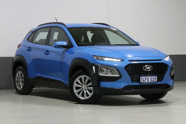 Used Hyundai Kona OS.2 MY19 GO (FWD), 2018 Hyundai Kona OS.2 MY19 GO (FWD) Blue 6 Speed Automatic Wagon