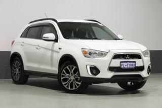 2016 Mitsubishi ASX XB MY15.5 LS (2WD) White Continuous Variable Wagon.