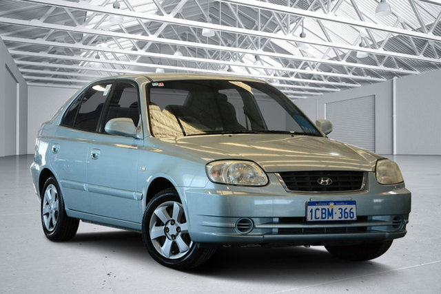 Used Hyundai Accent LS 1.6, 2005 Hyundai Accent LS 1.6 Celadon Blue 5 Speed Manual Hatchback