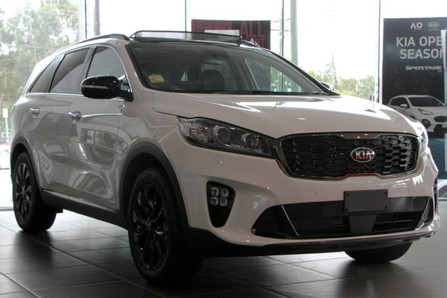 Used Kia Sorento UM MY20 Black Edition AWD, 2019 Kia Sorento UM MY20 Black Edition AWD Clear White 8 Speed Sports Automatic Wagon