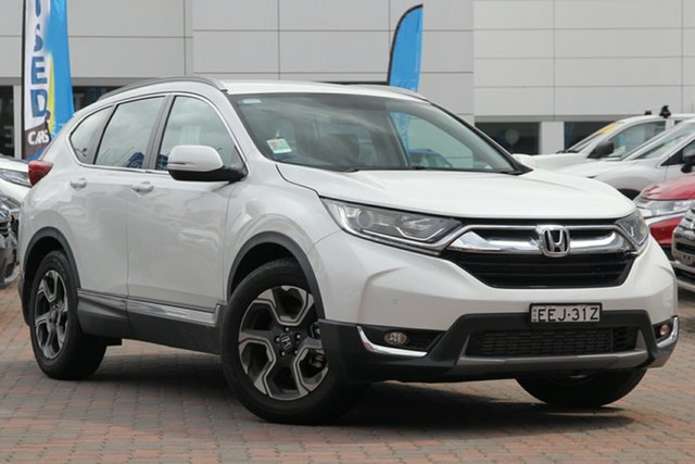 Demo Honda CR-V RW MY19 VTi-S FWD, 2019 Honda CR-V RW MY19 VTi-S FWD Platinum White 1 Speed Constant Variable Wagon