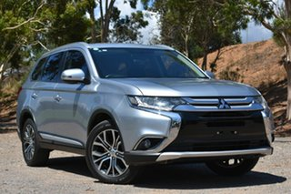 2015 Mitsubishi Outlander ZJ MY14.5 LS 2WD Silver 6 Speed Constant Variable Wagon.