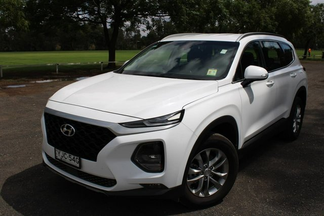 Demo Hyundai Santa Fe TM Active Dubbo, 2018 Hyundai Santa Fe TM Active White Sports Automatic