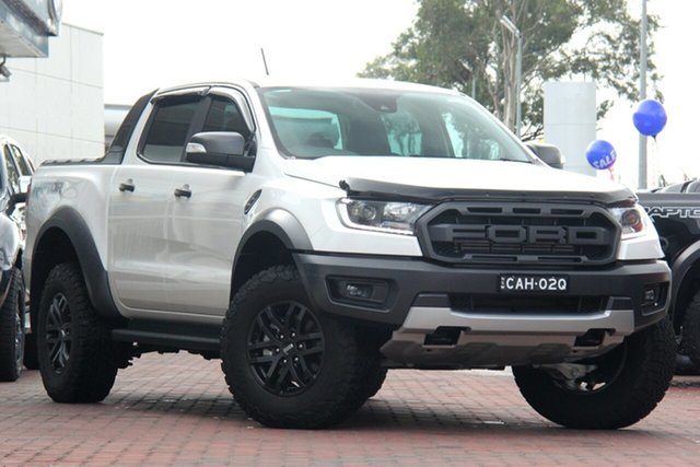 Demo Ford Ranger PX MkIII 2019.75MY Raptor Pick-up Double Cab, 2019 Ford Ranger PX MkIII 2019.75MY Raptor Pick-up Double Cab Arctic White 10 Speed Sports Automatic