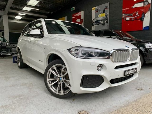 Used BMW X5 F15 xDrive40d, 2014 BMW X5 F15 xDrive40d White Sports Automatic Wagon