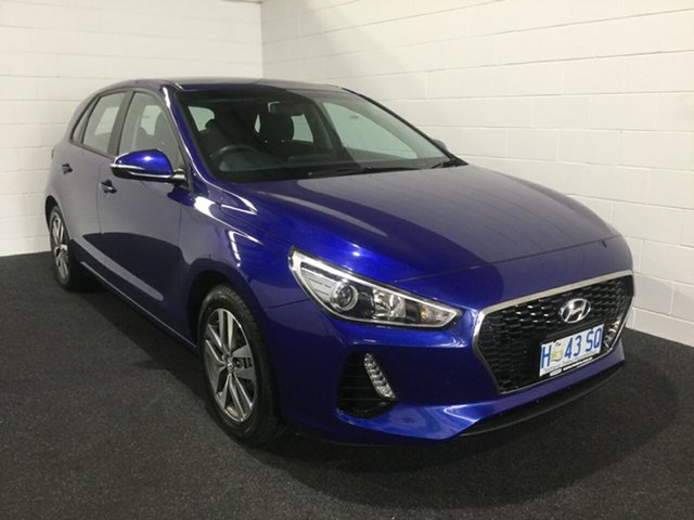 Used Hyundai i30 PD2 MY19 Active, 2018 Hyundai i30 PD2 MY19 Active Intense Blue 6 Speed Sports Automatic Hatchback