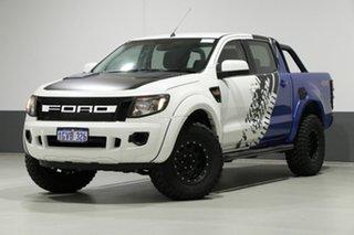 2015 Ford Ranger PX XL 3.2 (4x4) White 6 Speed Manual Dual Cab Utility.
