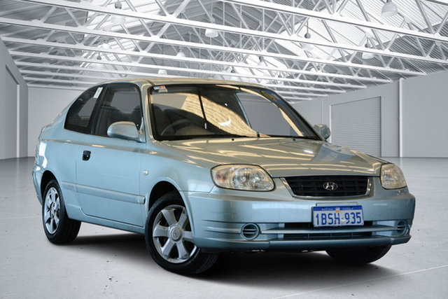 Used Hyundai Accent LS 1.6, 2004 Hyundai Accent LS 1.6 Celadon Blue 4 Speed Automatic Hatchback