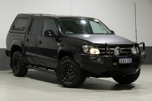 Used Volkswagen Amarok 2H MY13 TDI400 Highline (4x4), 2013 Volkswagen Amarok 2H MY13 TDI400 Highline (4x4) Black 6 Speed Manual Dual Cab Utility