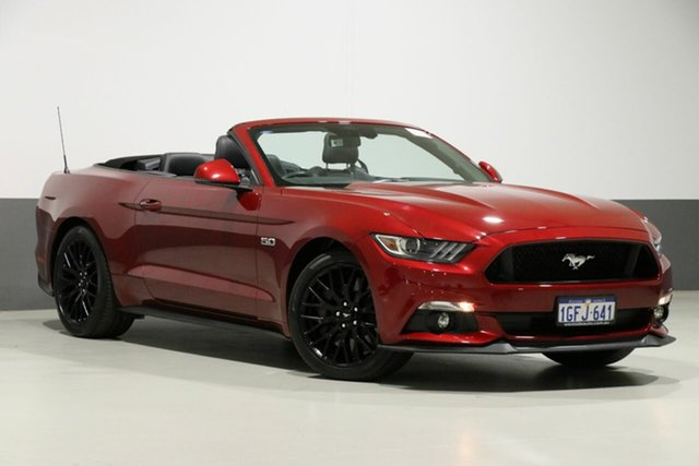 Used Ford Mustang FM GT 5.0 V8, 2016 Ford Mustang FM GT 5.0 V8 Red 6 Speed Automatic Convertible