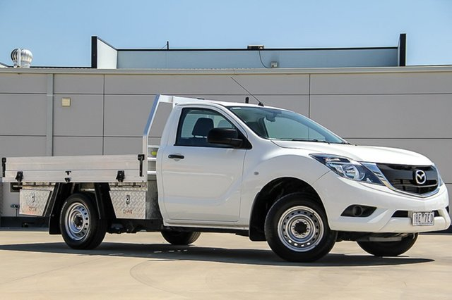 Used Mazda BT-50 UR0YD1 XT 4x2, 2016 Mazda BT-50 UR0YD1 XT 4x2 Cool White 6 Speed Manual Cab Chassis